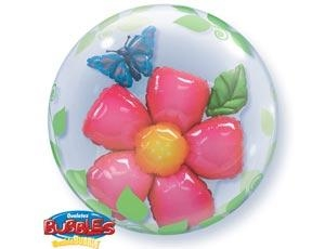 Bubble «Цветок и бабочка»