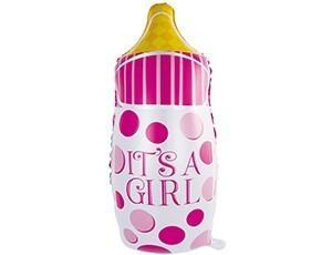 Бутылка в розовый горошек