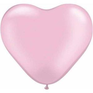Шар Сердце Пастель Розовый