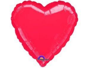 Сердце Металлик Red