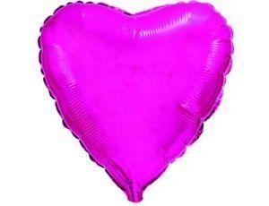 Сердце Металлик Purple