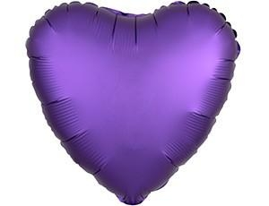 СЕРДЦЕ Сатин Purple Royale